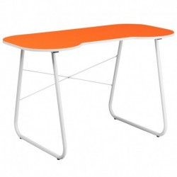 MFO Orange Computer Desk with White Frame