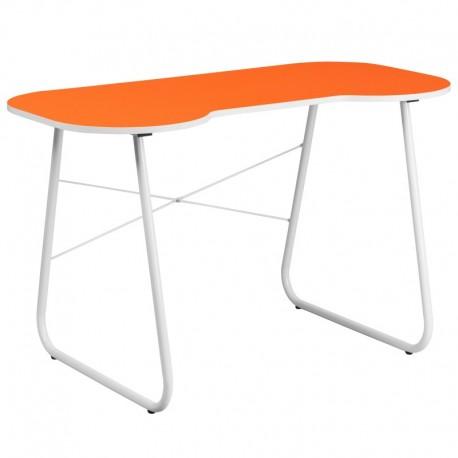 MFO Orange Computer Desk with White Frame