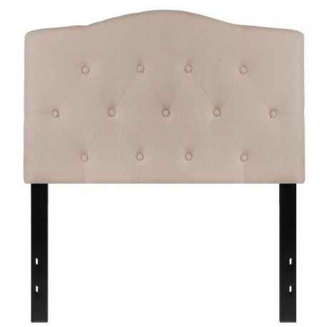MFO Diana Collection Twin Size Headboard in Beige Fabric