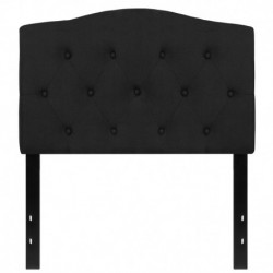 MFO Diana Collection Twin Size Headboard in Black Fabric