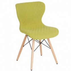 MFO Oxford Collection Contemporary Upholstered Chair with Wooden Legs in Citrus Green Fabric