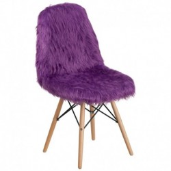 MFO Shaggy Dog Purple Accent Chair