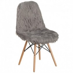 MFO Shaggy Dog Charcoal Gray Accent Chair