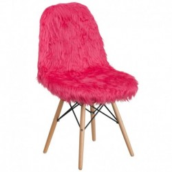 MFO Shaggy Dog Hot Pink Accent Chair