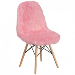 MFO Shaggy Dog Light Pink Accent Chair