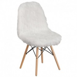 MFO Shaggy Dog White Accent Chair