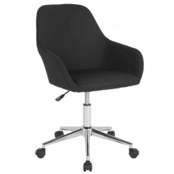 MFO Colette Collection Mid-Back Chair in Black Fabric