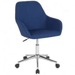 MFO Colette Collection Mid-Back Chair in Blue Fabric