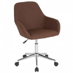 MFO Colette Collection Mid-Back Chair in Brown Fabric