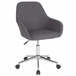 MFO Colette Collection Mid-Back Chair in Dark Gray Fabric