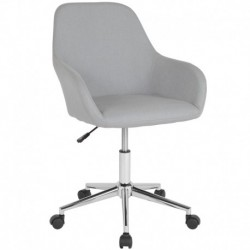 MFO Colette Collection Mid-Back Chair in Light Gray Fabric