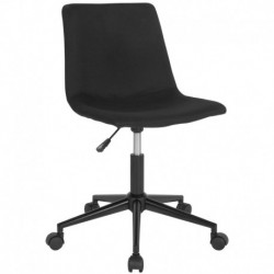 MFO Camila Collection Task Chair in Black Fabric