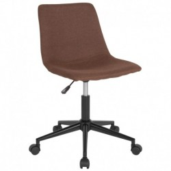 MFO Camila Collection Task Chair in Brown Fabric