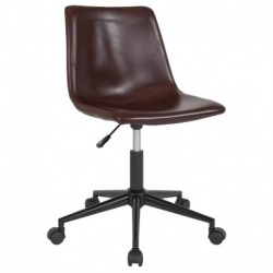 MFO Camila Collection Task Chair in Brown Leather