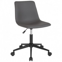 MFO Camila Collection Task Chair in Gray Leather