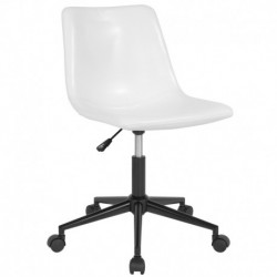 MFO Camila Collection Task Chair in White Leather