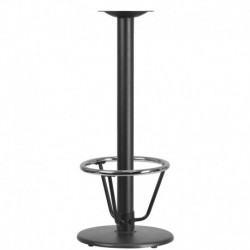 MFO 18'' Round Restaurant Table Base with 3'' Dia. Bar Height Column and Foot Ring