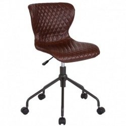 MFO Oxford Collection Task Chair in Brown Vinyl