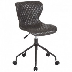MFO Oxford Collection Task Chair in Gray Vinyl