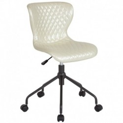 MFO Oxford Collection Task Chair in Ivory Vinyl