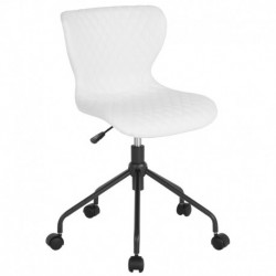 MFO Oxford Collection Task Chair in White Vinyl