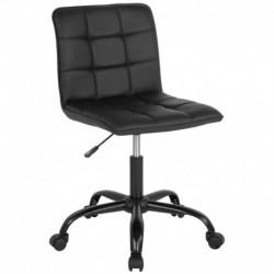 MFO Camila Collection Task Chair in Black Leather