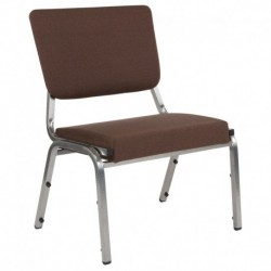 MFO 1500 lb Rated Brown Antimicrobial Fabric Churchillatric Chair, 3/4 Panel Back & Silver Vein
