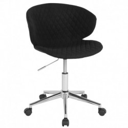 MFO Diana Collection Low Back Chair in Black Fabric