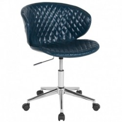 MFO Diana Collection Low Back Chair in Blue Vinyl