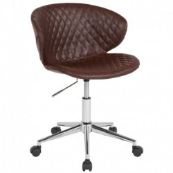 MFO Diana Collection Low Back Chair in Brown Vinyl