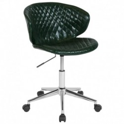 MFO Diana Collection Low Back Chair in Green Vinyl