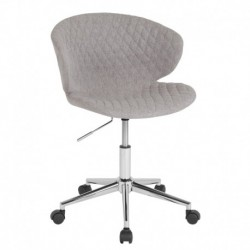 MFO Diana Collection Low Back Chair in Light Gray Fabric