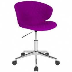MFO Diana Collection Low Back Chair in Purple Fabric