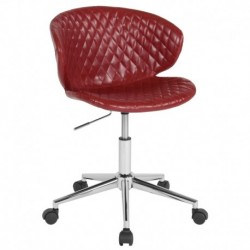 MFO Diana Collection Low Back Chair in Red Vinyl
