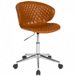 MFO Diana Collection Low Back Chair in Saddle Vinyl