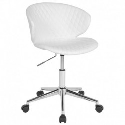 MFO Diana Collection Low Back Chair in White Vinyl