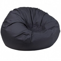 MFO Oversized Solid Gray Bean Bag Chair