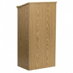 MFO Stand-Up Wood Lectern in Oak