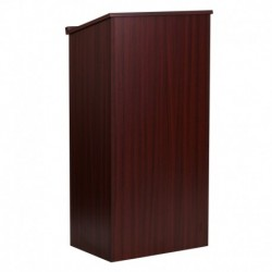 MFO Stand-Up Wood Lectern in Mahogany