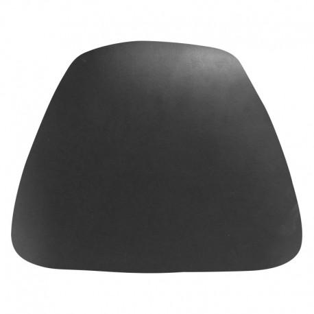 MFO Hard Black Vinyl Chiavari Bar Stool Cushion