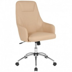 MFO Stanford Collection High Back Chair in Beige Fabric