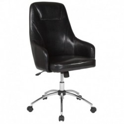 MFO Stanford Collection High Back Chair in Black Leather