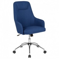 MFO Stanford Collection High Back Chair in Blue Fabric