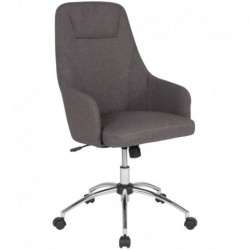 MFO Stanford Collection High Back Chair in Dark Gray Fabric