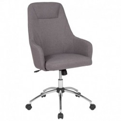 MFO Stanford Collection High Back Chair in Light Gray Fabric
