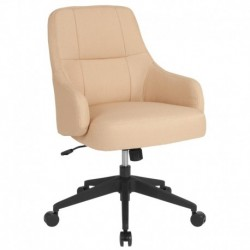 MFO Knox Collection Mid-Back Chair in Beige Fabric
