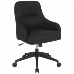 MFO Knox Collection Mid-Back Chair in Black Fabric