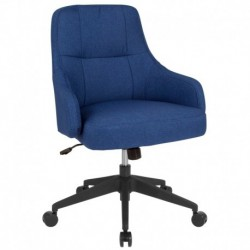 MFO Knox Collection Mid-Back Chair in Blue Fabric