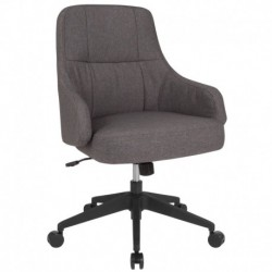 MFO Knox Collection Mid-Back Chair in Dark Gray Fabric