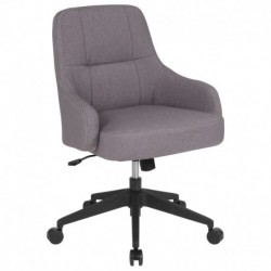 MFO Knox Collection Mid-Back Chair in Light Gray Fabric